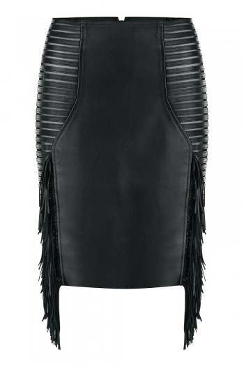 GAIA leather pencil skirt