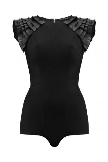 Black geometric bodysuit LAYLA