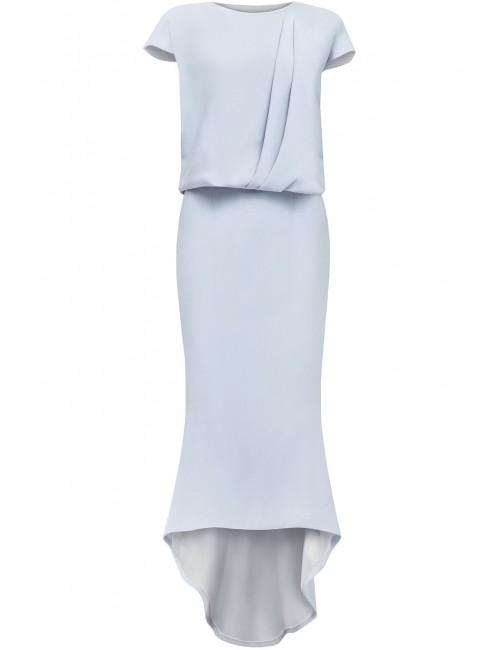 Szara sukienka z pęknięciem na plecach SIREN