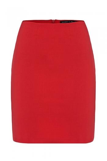 Red mini skirt PENCIL