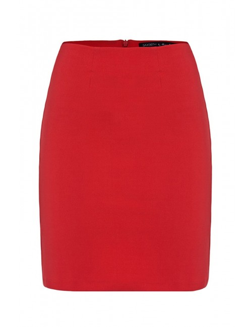 Red mini skirt PENCIL