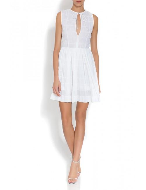 Sukienka z marszczonej bawełny ATENA