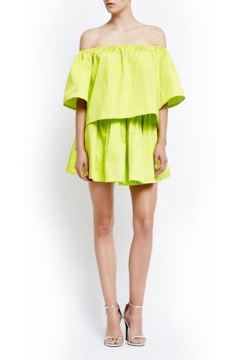 Lemon pleated mini skirt Capri