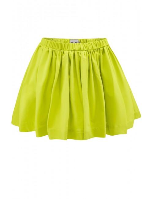 Jasno-zielona marszczona spódnica Capri