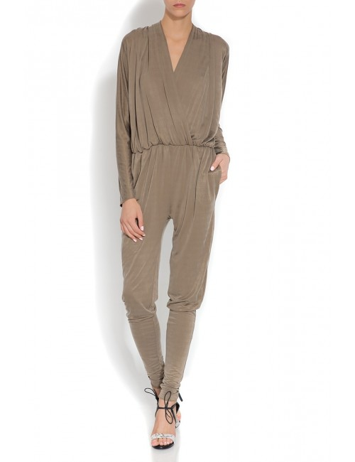 Beige draped jumpsuit Martha