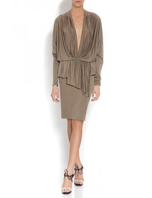 Beige draped dress Melissa