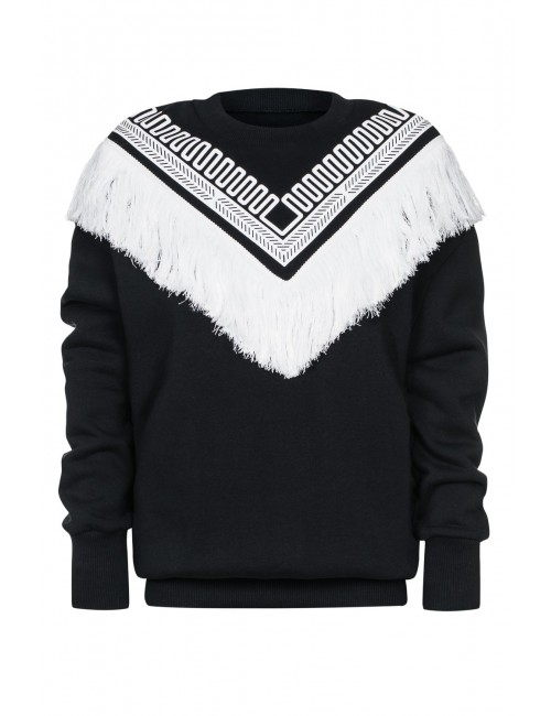 DIONE fringe sweatshirt